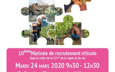L'ANEFA Gironde vous invite à la Vitiparty (matinées de recrutement en viticulture)