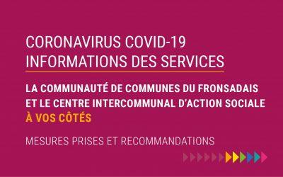 COVID-19 : Les services de la CDC, du CIAS & de l'OT se mobilisent !