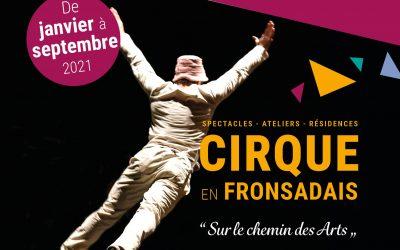 Votre nouveau programme culturel 2021 : «Cirque en Fronsadais» est en ligne