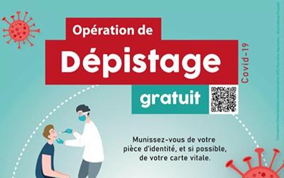 COVID-19 – Opération de dépistage gratuit