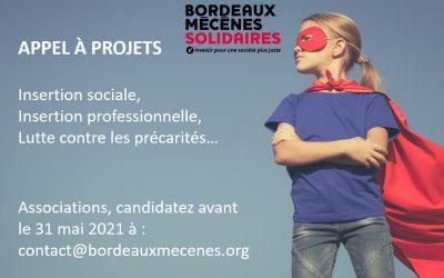Bordeaux Mécènes Solidaires lance un appels à projets : Associations candidatez!